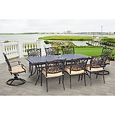 Image Of Hanover Traditions 9 Piece Outdoor Dining Set