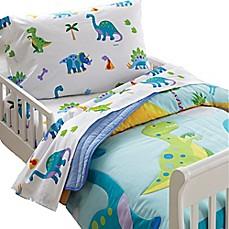 image of olive kids dinosaur land toddler sheet set - Toddler Boy Sheets