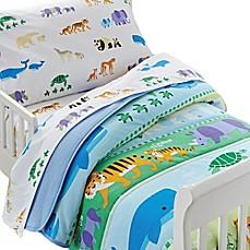 image of olive kids endangered animals toddler sheet set