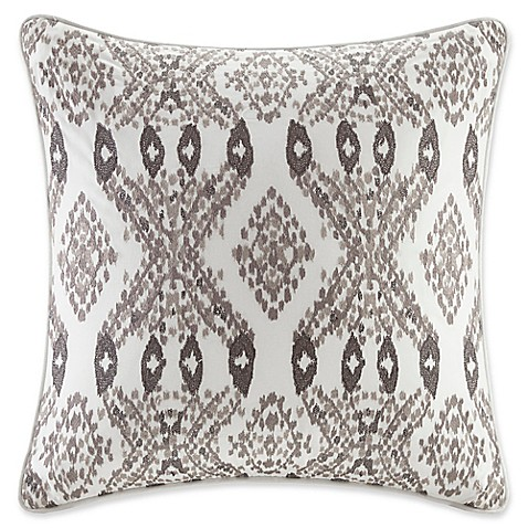 INK+IVY Clyde II Square Throw Pillow in Purple - Bed Bath & Beyond