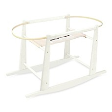 image of Jolly Jumper® Rocking Moses Basket Stand in Antique White