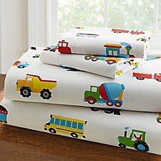 image of Olive Kids™ Trains, Planes, Trucks Sheet Set