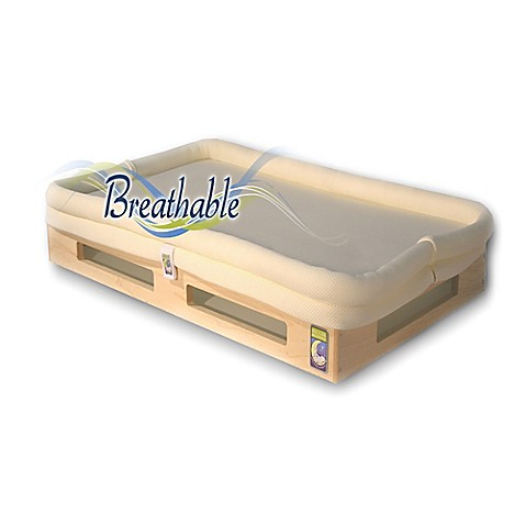 Secure Beginnings Mini Breathable Crib Mattress In Natural