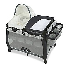 image of Graco Pack 'n Play Quick Connect Portable Napper Deluxe with Bassinet in McKinley