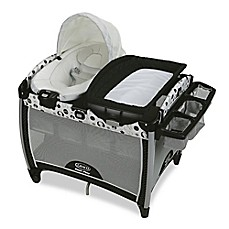 image of Graco Pack 'n Play Quick Connect Portable Bouncer with Bassinet in Balancing Act