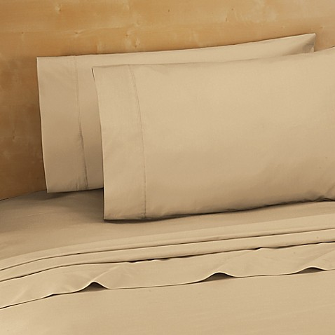 220-Thread-Count Cotton Percale King Sheet Set in Taupe