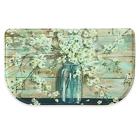 bacova blossoms in a jar memory foam kitchen mat collection bed bath beyond. Black Bedroom Furniture Sets. Home Design Ideas