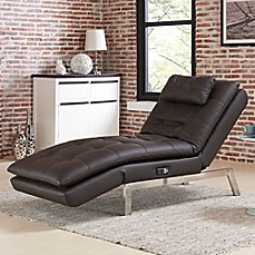 image of Lifestyle Solutions Vaugn Convertible Chaise in Brown