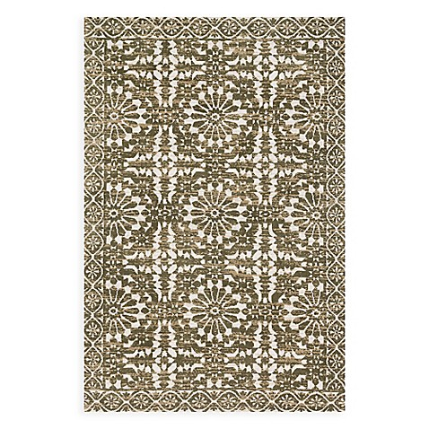Magnolia Home By Joanna Gaines Lotus Rug In Ivory Olive