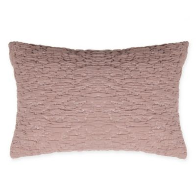 image of Kenneth Cole Reaction Home Mineral Oblong Throw Pillow in Blush