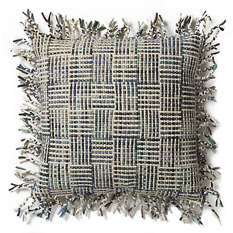 Magnolia Home Geraldine 22-Inch x 22-Inch Accent Pillow in Beige/Olive