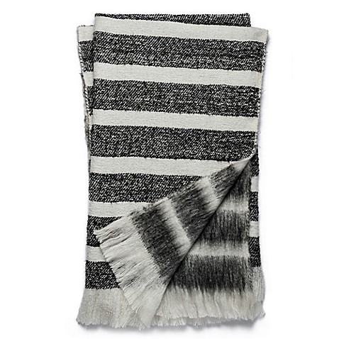 Magnolia Home Duke 50-Inch x 60-Inch Reversible Throw in Black/White