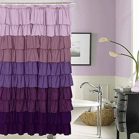 Gigi Shower Curtain White