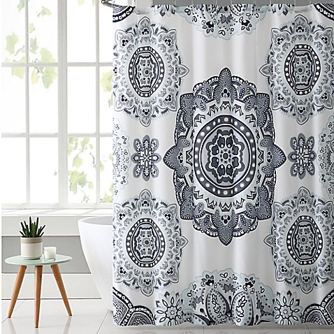 VCNY Kaya Shower Curtain In Grey Mint Bed Bath Beyond