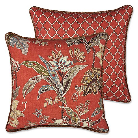 Rose Tree Decorative Pillows : Rose Tree Durelme 18-Inch Square Throw Pillow in Red - Bed Bath & Beyond