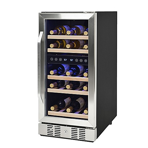 image of newair compact 29 bottle dualzone compressor wine cooler