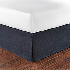 image of Poppy & Fritz® Denim Bed Skirt in Navy