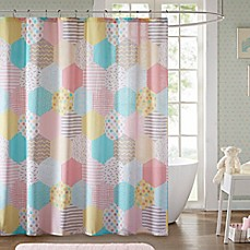 Image Of Urban Habitat Kids Trixie 72 Inch Shower Curtain In Yellow/Pink