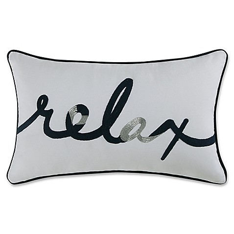 martini pillow coastal living relax oblong throw pillow in navywhite bed bath