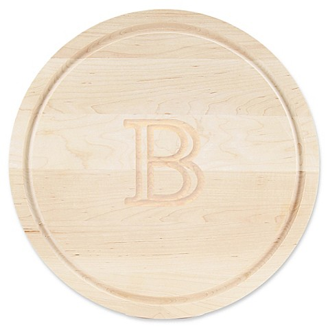 buy cutting board company 16 inch round wood monogram letter b cutting board in maple from bed. Black Bedroom Furniture Sets. Home Design Ideas