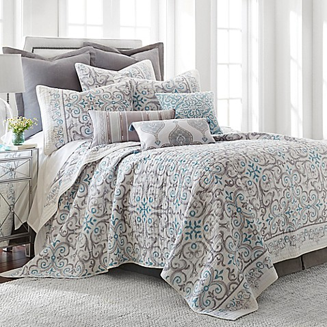 Levtex Home Massana Reversible Quilt Set In Greyblue Bed Bath