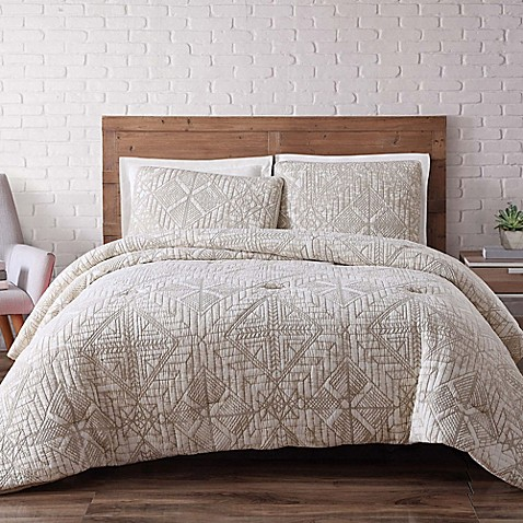 buy brooklyn loom sand washed twin xl duvet cover set in white from bed bath beyond. Black Bedroom Furniture Sets. Home Design Ideas