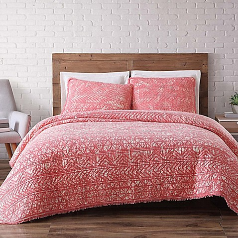 Buy brooklyn loom sand washed reversible twin xl quilt set for Brooklyn loom bedding
