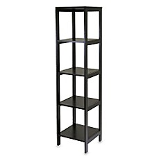 image of Bedford 5-Shelf Espresso Bookcase