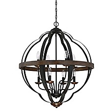 image of Quoizel Siren Cage Chandelier in Black