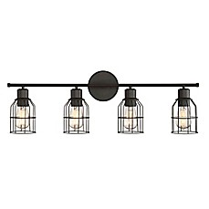 Bathroom Lighting Fixtures Black bathroom lighting - bed bath & beyond
