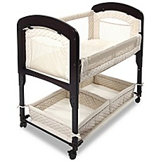 image of Arm's Reach® Cambria Wood Quilted Co-Sleeper® Without Skirt in Natural