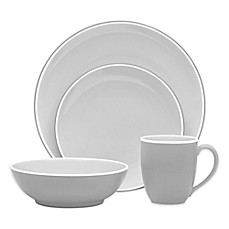image of Noritake® ColorTrio Coupe 16-Piece Dinnerware Set in Slate