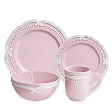 image of American Atelier Victoria 16-Piece Dinnerware Set in Blush