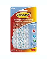 Clips transparentes para decorar, 3M Command™ Paquete de 20 pzas.