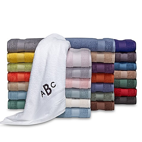 Wamsutta® Personalized Hygro® Duet Bath Towel Collection
