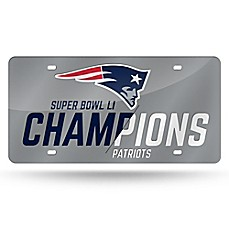 image of NFL New England Patriots Super Bowl LI Champions Laser License Plate Tag