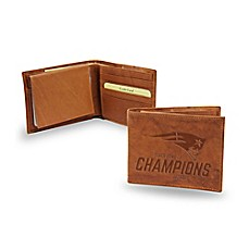 image of NFL New England Patriots Super Bowl LI Champions Leather Bifold Wallet