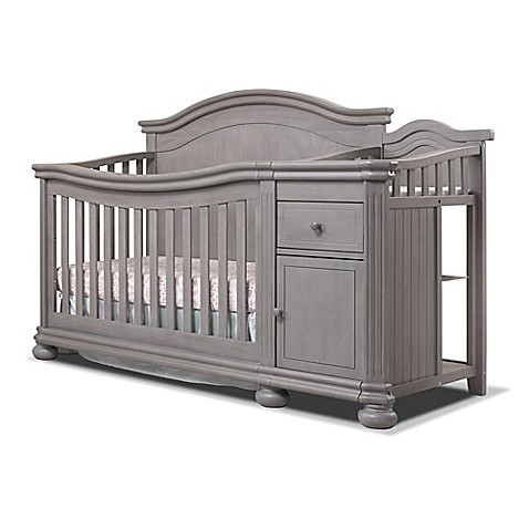 Sorelle Finley Crib U0026amp; Changer In Weathered Grey