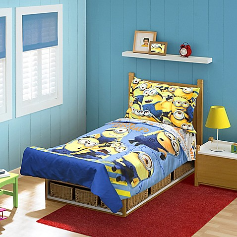 Toddler Bedding Sets Gt BabyboomR Minions Mishaps 4 Piece