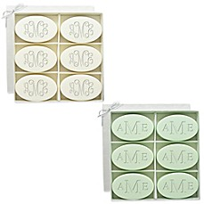 image of Carved Solutions 6-Pack Signature Spa Inspire Monogrammed Oval Bar Soap