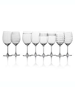 Copas para vino tinto de vidrio Cheers Mikasa®, Set de 8 pzas.