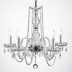 Plug in chandelier bed bath beyond swarovski crystal trimmed plug in chandelier aloadofball Images