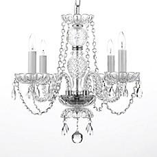 Plug in chandelier bed bath beyond venetian style small 4 light crystal plug in chandelier in clear aloadofball Images