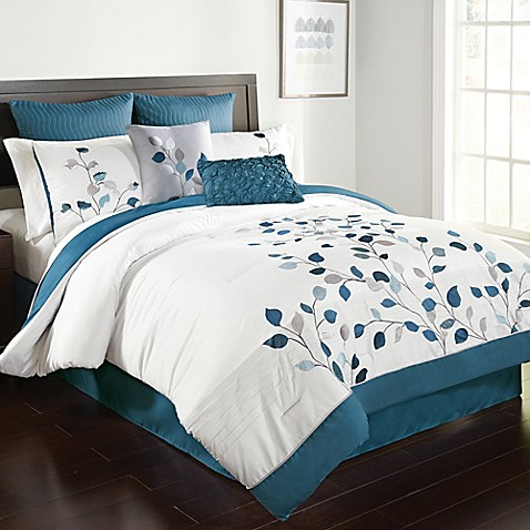 michela comforter set in petrol bed bath beyond 12029 | 1123050234972c 478