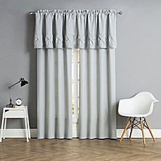 image of Pom Pom Window Curtain Panels and Valance