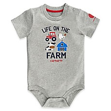 image of Carhartt® Life On The Farm Bodysuit in Grey
