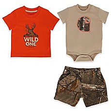 image of Carhartt® Realtree Xtra® 3-Piece Camo T-Shirt, Bodysuit, and Short Set