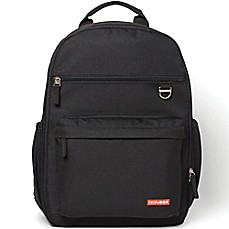 image of Skip Hop Duo Diaper Backpack in Black