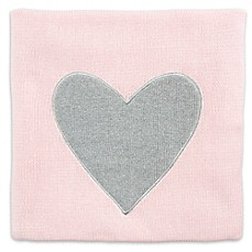 image of Heart Luxe Blanket in Pink