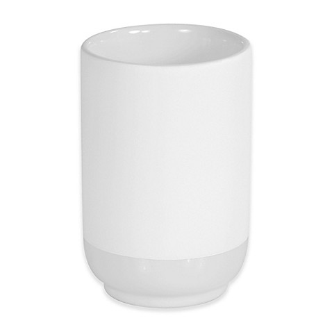 Buy coupe tumbler in white from bed bath beyond for White bathroom tumbler